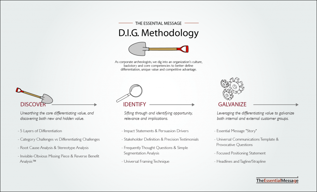 image of Essential Message D.I.G. Methodology | Michel Neray